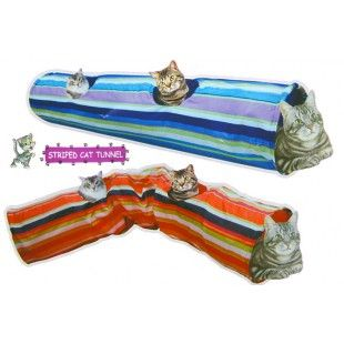 Pets n Pals Foldable Striped Cat Tunnel Toy with holes Price: $12.95