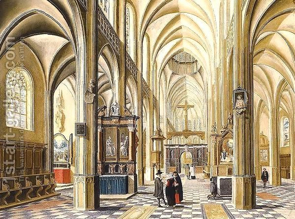 Interior Of A Gothic Cathedral 1614 By Bartholomeus Van Bassen