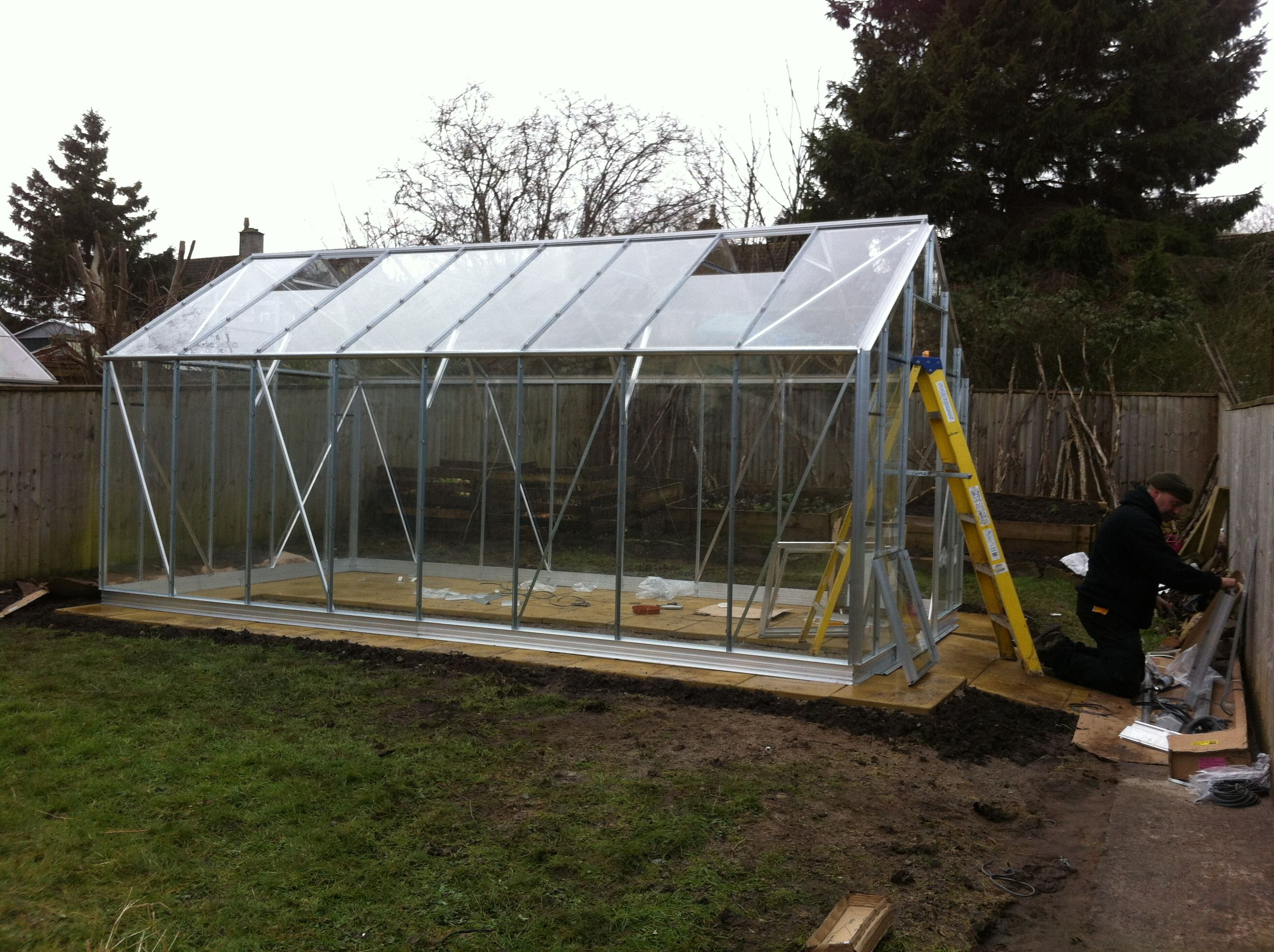 New greenhouse at Base House for WSES Horticulture group