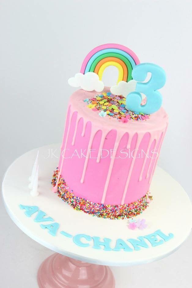 Excellent Rainbow Cake With Images Rainbow Birthday Cake Ocean Birthday Personalised Birthday Cards Sponlily Jamesorg