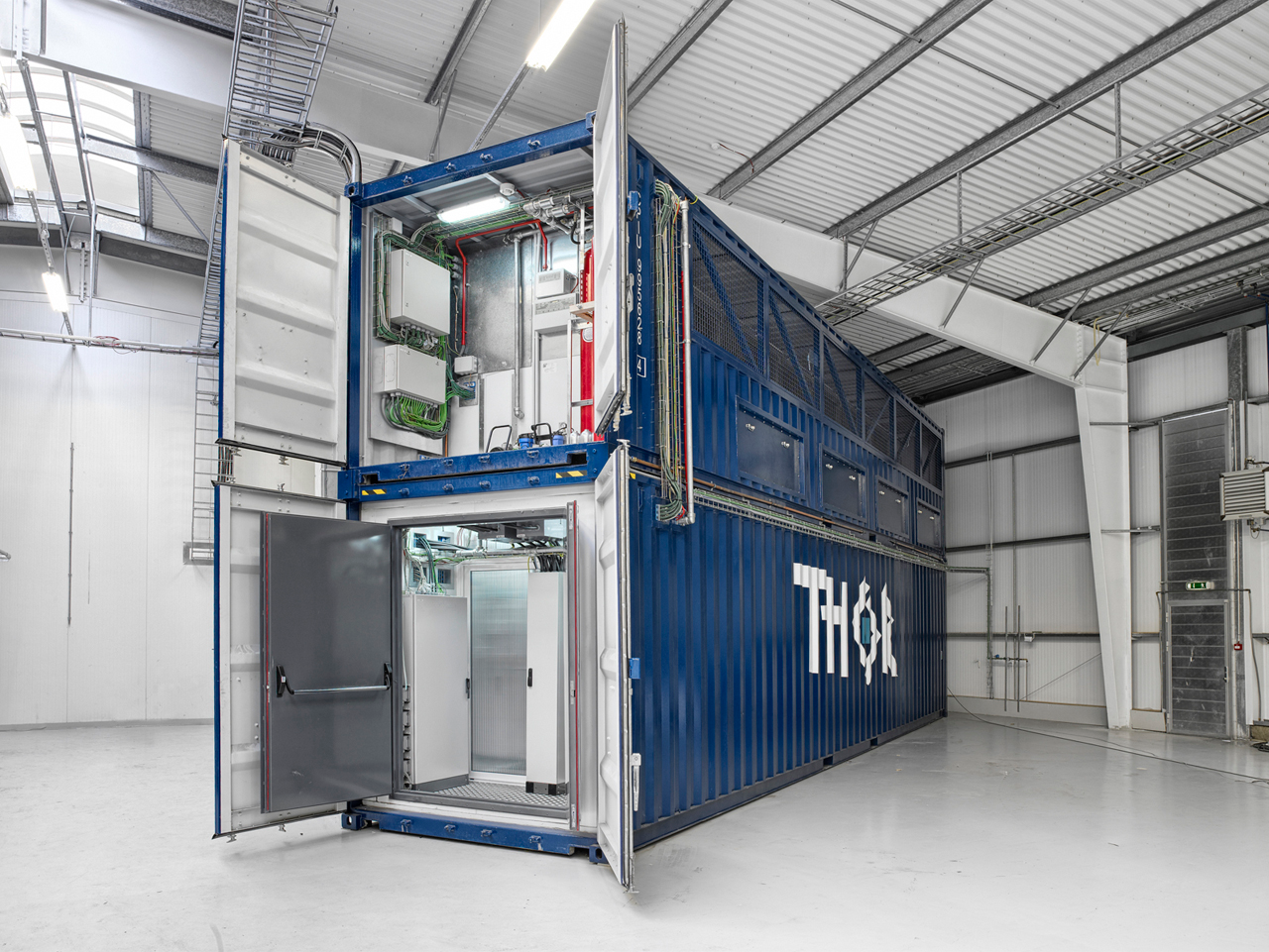 Iceland s thor data center 2 shipping containers with for Zero footprint homes