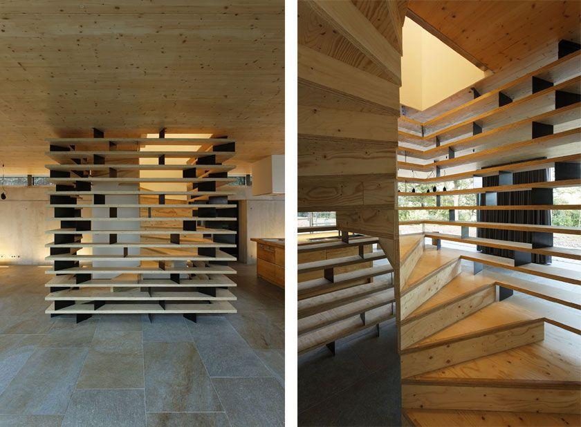 Lode architecture - Maison D - Escalier Wooden houses Pinterest