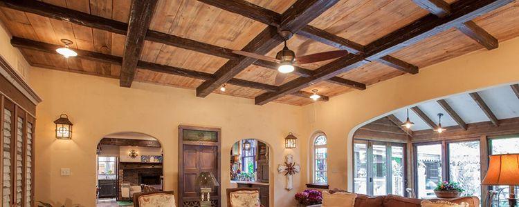Faux Wood Ceiling Beams & Planks | Wood beam ceiling ...