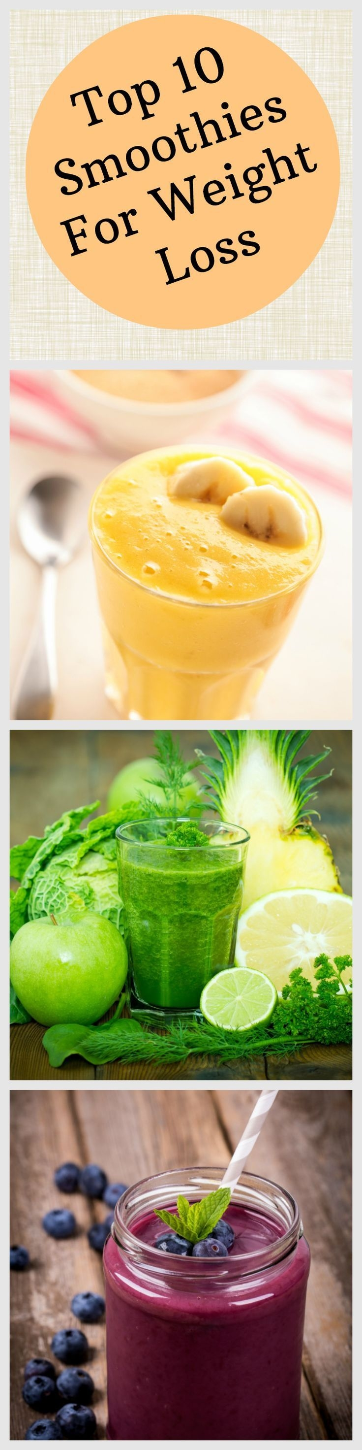 Ten Awesome Smoothies for Weight Loss. low calorie, but packed with nutrition. #weightlosssmoothies