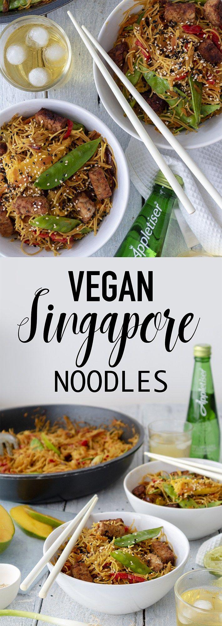 Vegan Singapore Noodles Recipe Cheap Vegan Meals Vegan Lunch Recipes Vegan Dinner Recipes
