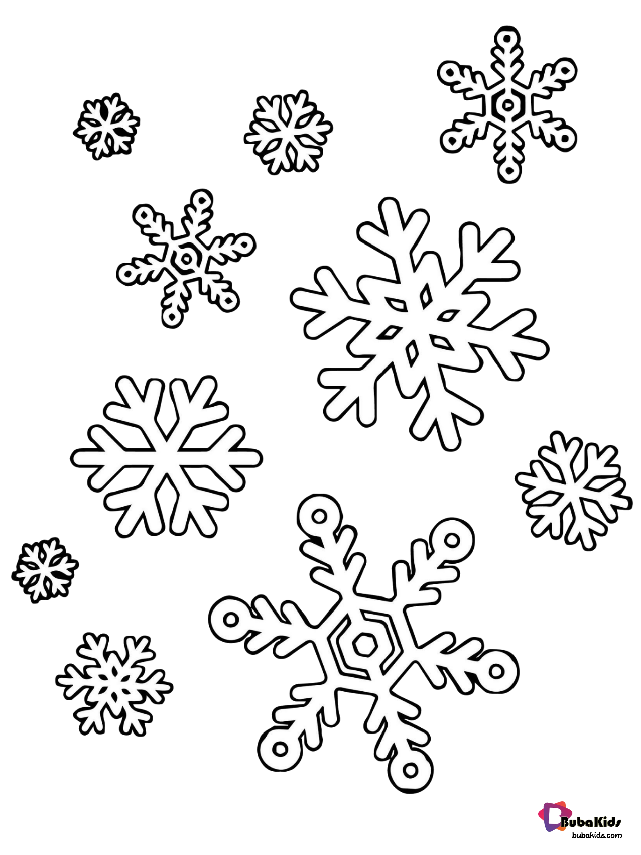 - Winter Snowflakes Coloring Page. In 2020 Snowflake Coloring