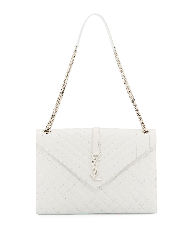 Monogram YSL V-Flap Large Tri-Quilt Envelope Chain Shoulder Bag ... 291c48097f873