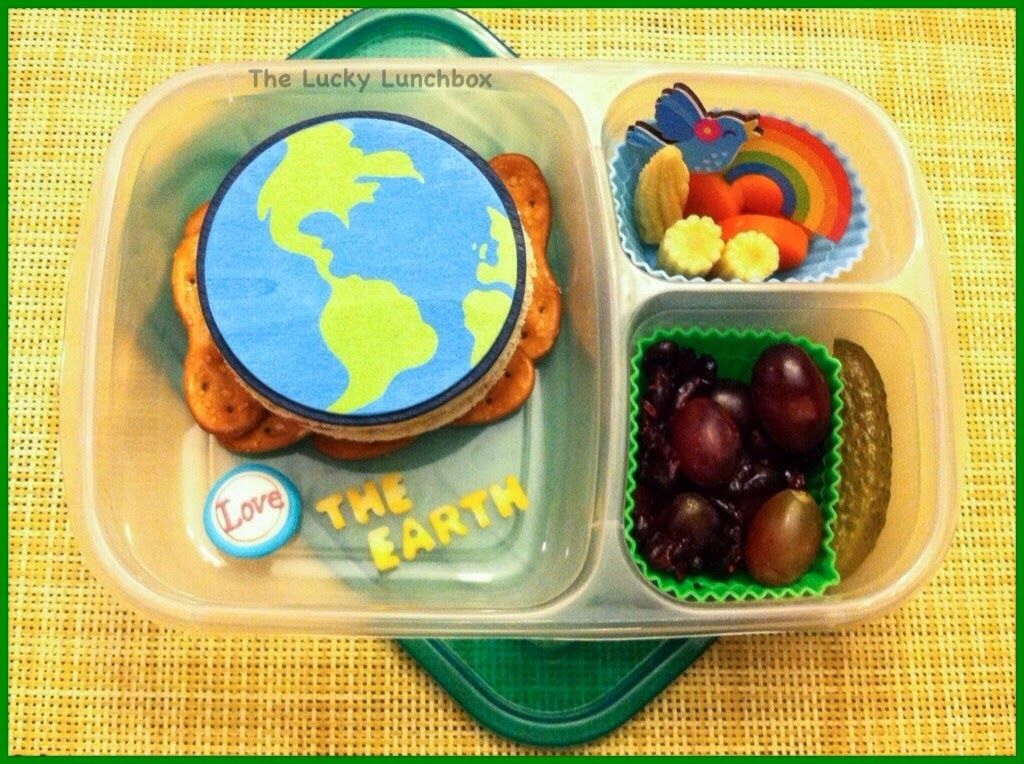 The Lucky Lunchbox/ Happy Earth Day lunch 04-21-14