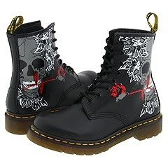 8c8c457a8977 Dr. Martens Rose Skull by at Zappos.com