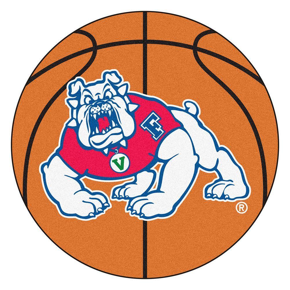 Fresno State Bulldogs NCAA Basketball Round Floor Mat (29