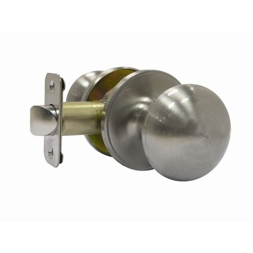 gatehouse baron satin nickel mushroom passage door knob tfx230