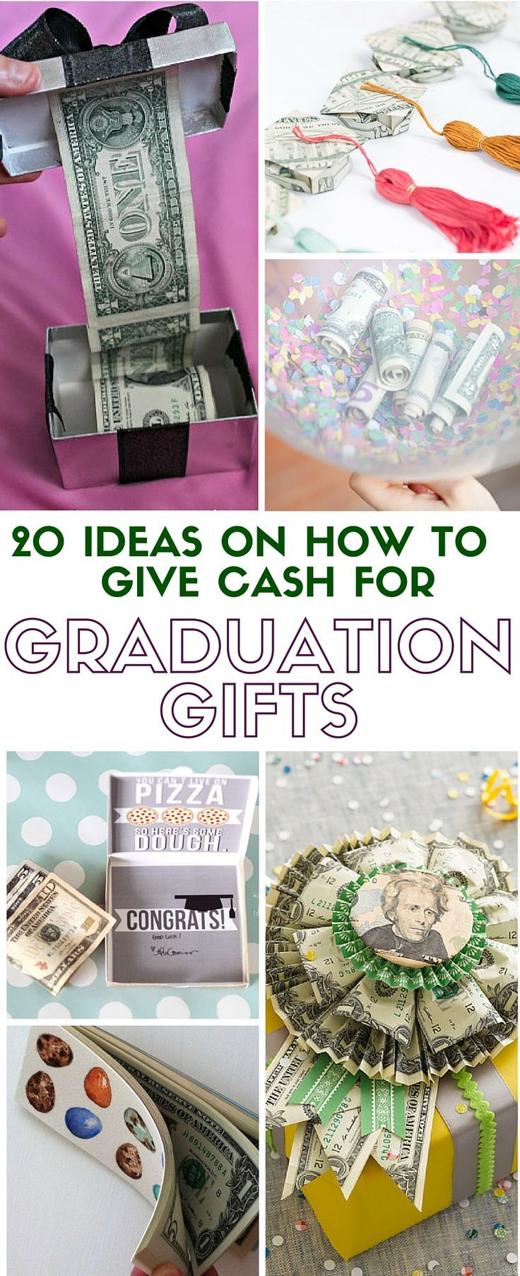 20 ideas on how to give cash for graduation gift high