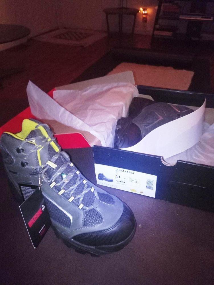 c38baeb985e Wolverine Men's Quest FX Composite Toe Work Boot Grey Leather/Denier ...