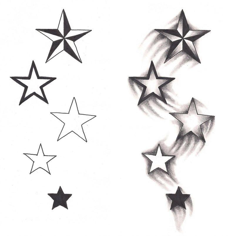 Freebies Shooting Stars Tattoo Design By Tattoosavage Shooting Star Tattoo Small Star Tattoos Star Tattoos