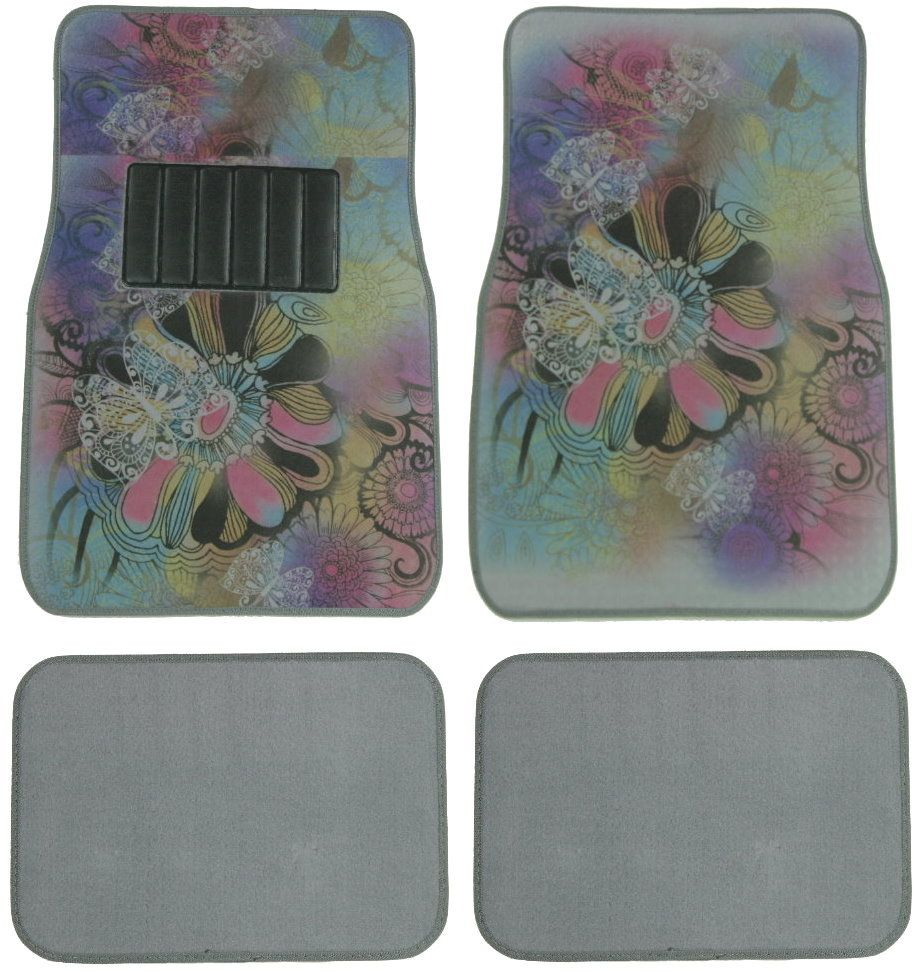 Designer Imagine Butterfly Floor Mat 4 Pc | Auto carpet, Cars and Jeeps