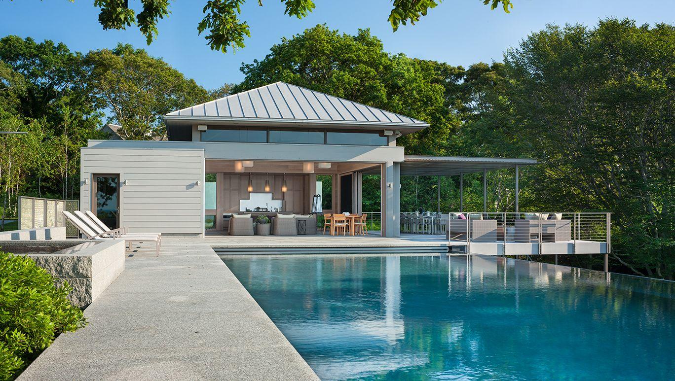 Infinity Pool, Pool Terrace, Granite, Pool House   Stephen Stimson  Associates Landscape Architect