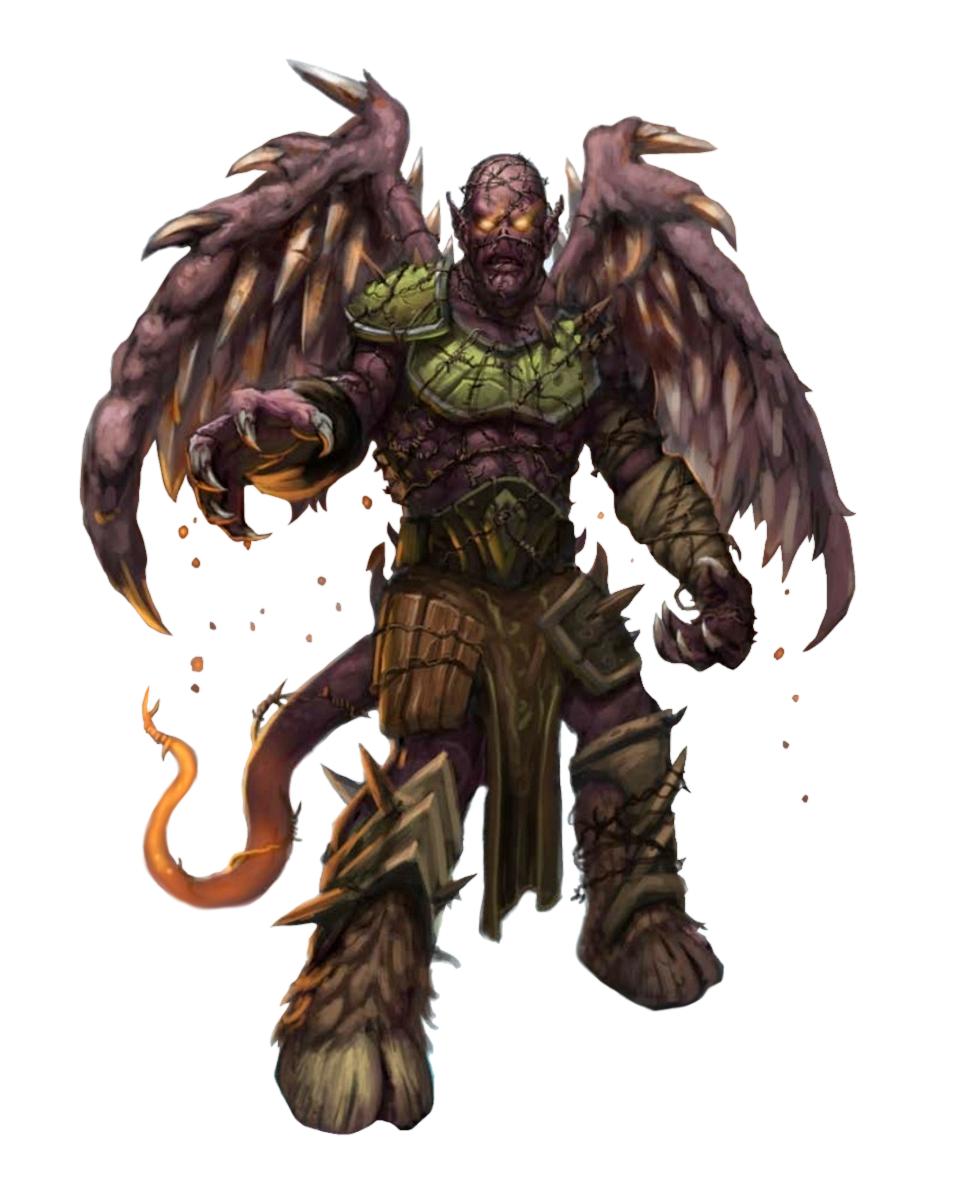 Genthodaemon - Pathfinder PFRPG DND D&D 3 5 5E 5th ed d20 fantasy