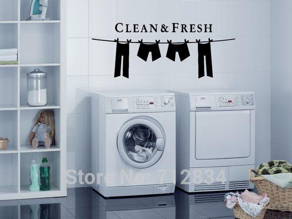 Vinilo lavanderia buscar con google ideas reforma for Decoracion de lavanderia