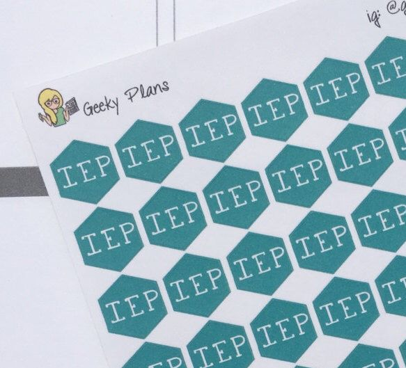 A personal favorite from my Etsy shop https://www.etsy.com/listing/467594889/iep-school-planner-stickers-erin-condren