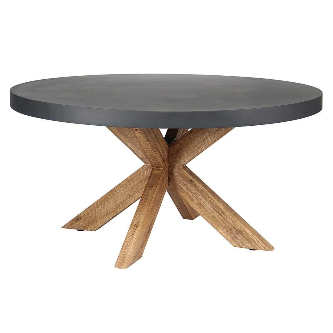 Outliv Gartentisch O150cm Akazie Fiberstone Tisch Klappbarer
