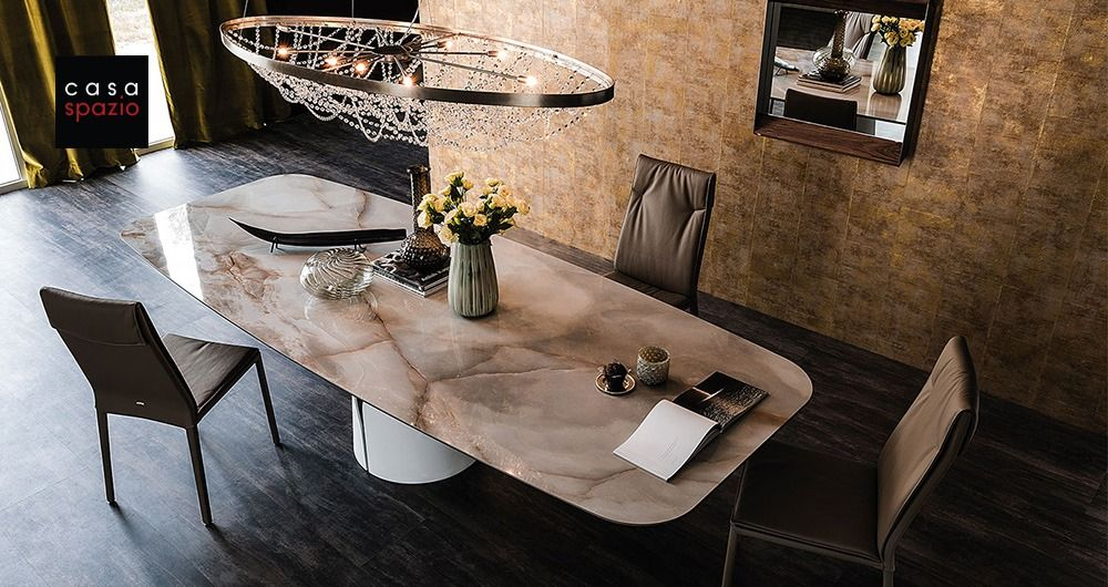 The Giano Modern Dining Table From Italian Furniture Brand