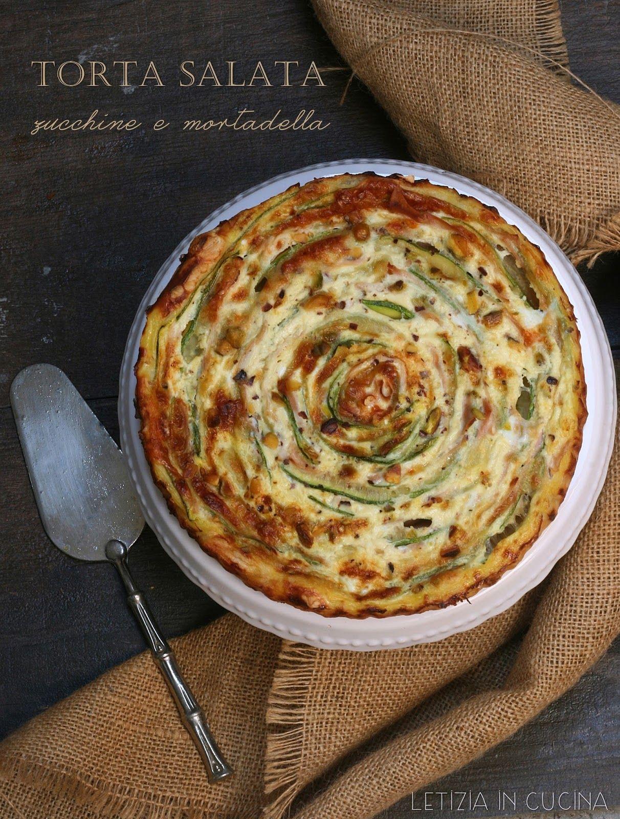 Letizia in Cucina: Torta salata con zucchine e mortadella | pizza ...