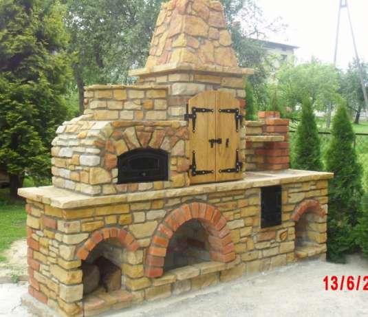 Bardzo dobry Grill ogrodowy z kamienia, wędzarnia, piec chlebowy Jasienica GI29