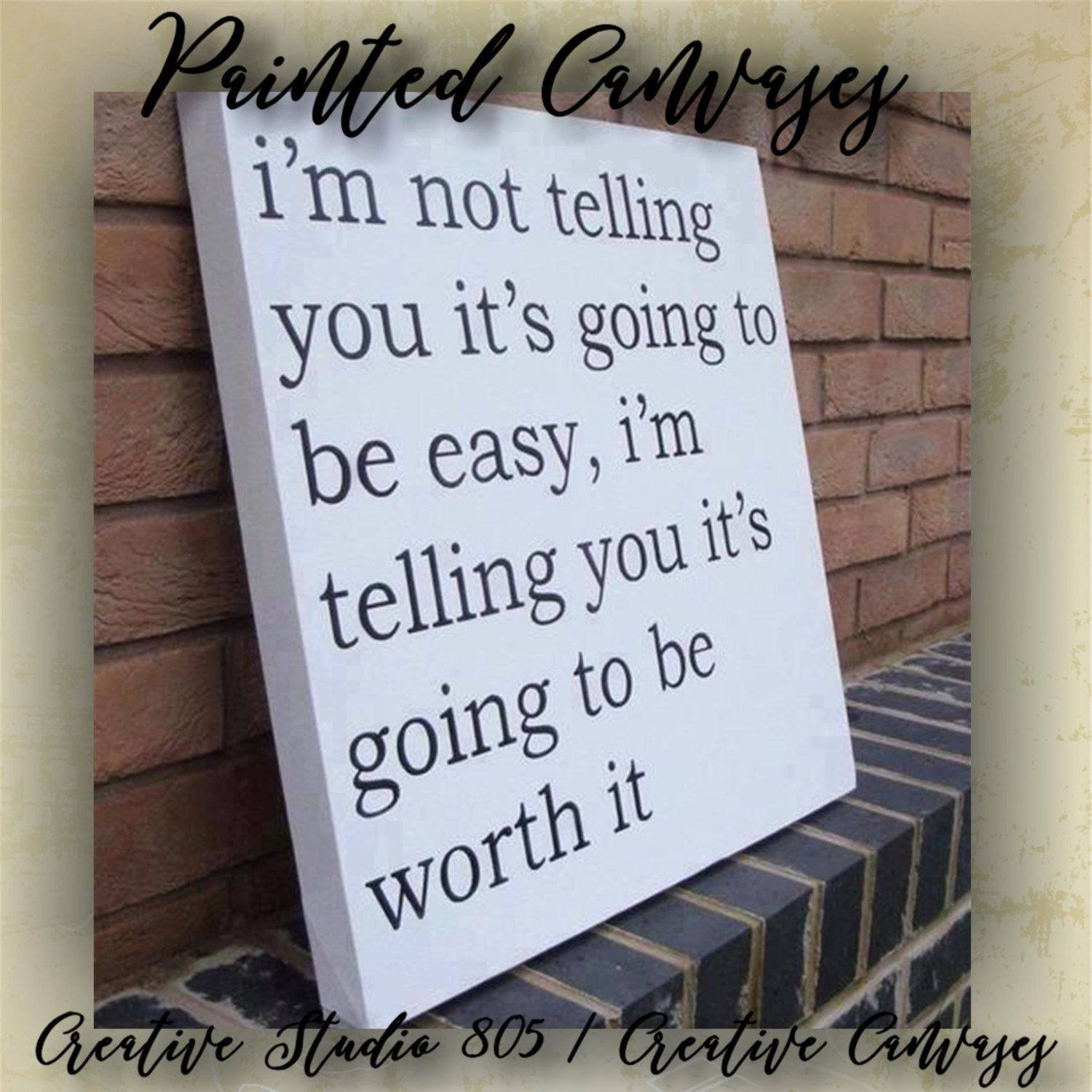 Worth it decorated canvas wall hanging wall decor inspiring