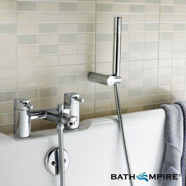 Square Bath Mixer Tap With Shower Ivela Chrome Bath Tap