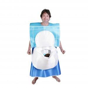 Todo el mundo querrá sentarse a hablar contigo con este disfraz de water. o también conocido como disfraz de wc.