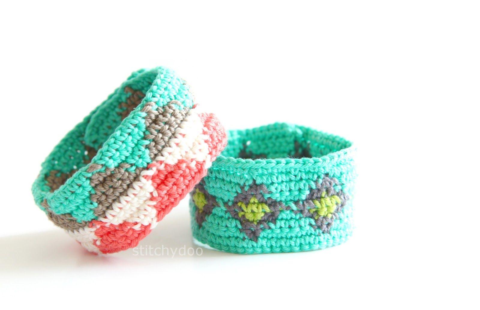 Gehäkelte Armbänder mit Mustern | Tatendrang - stitchydoo | Häkeln ...