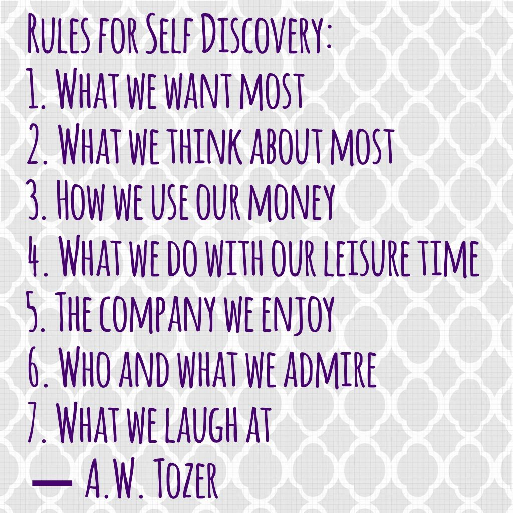 Rules For Self Discovery A Wzer