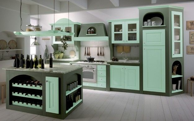 cucine in muratura moderne colorate - Cerca con Google | cucine in ...