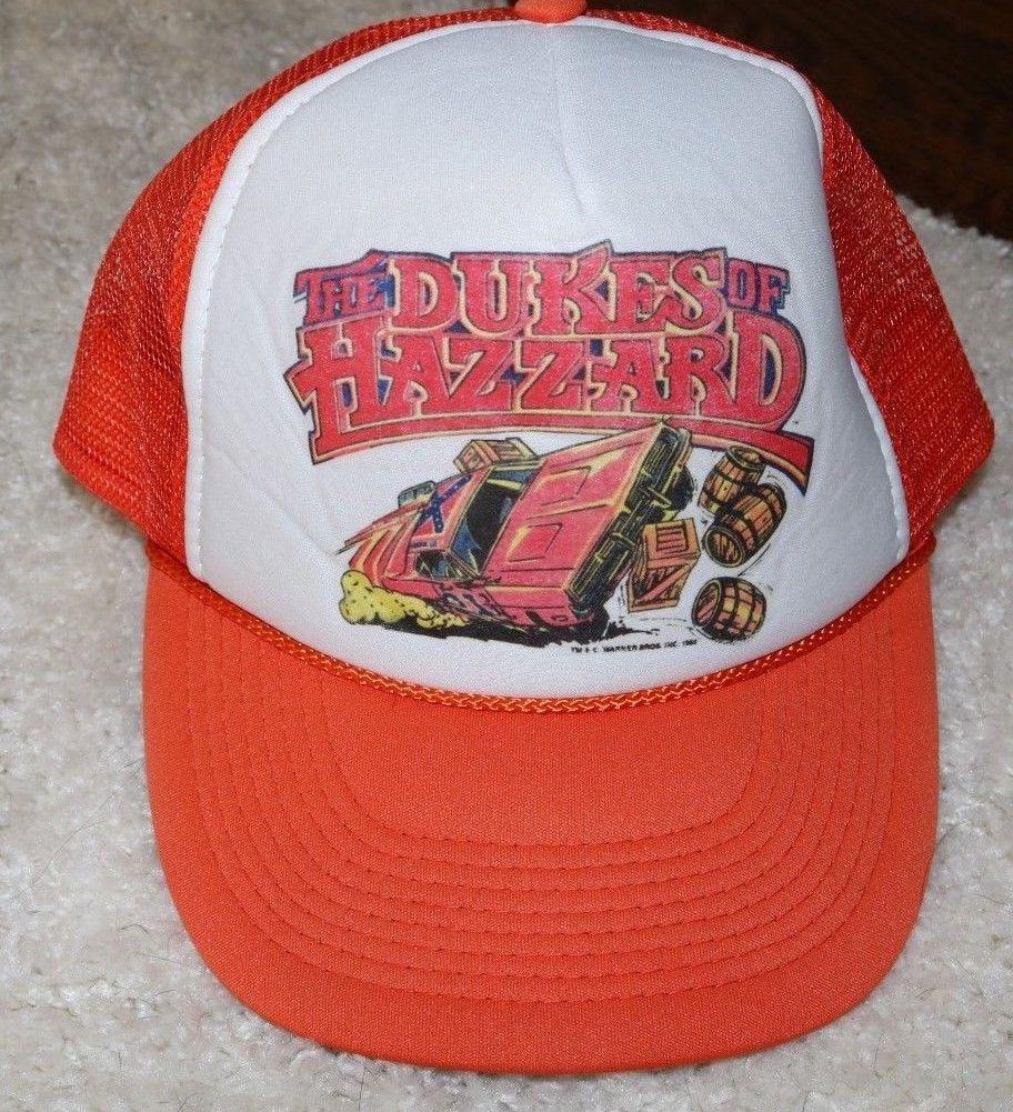 RARE Warner Bros DUKES OF HAZZARD trucker cap snapback 1982 NISSUN General  LEE  e2d78c34dad