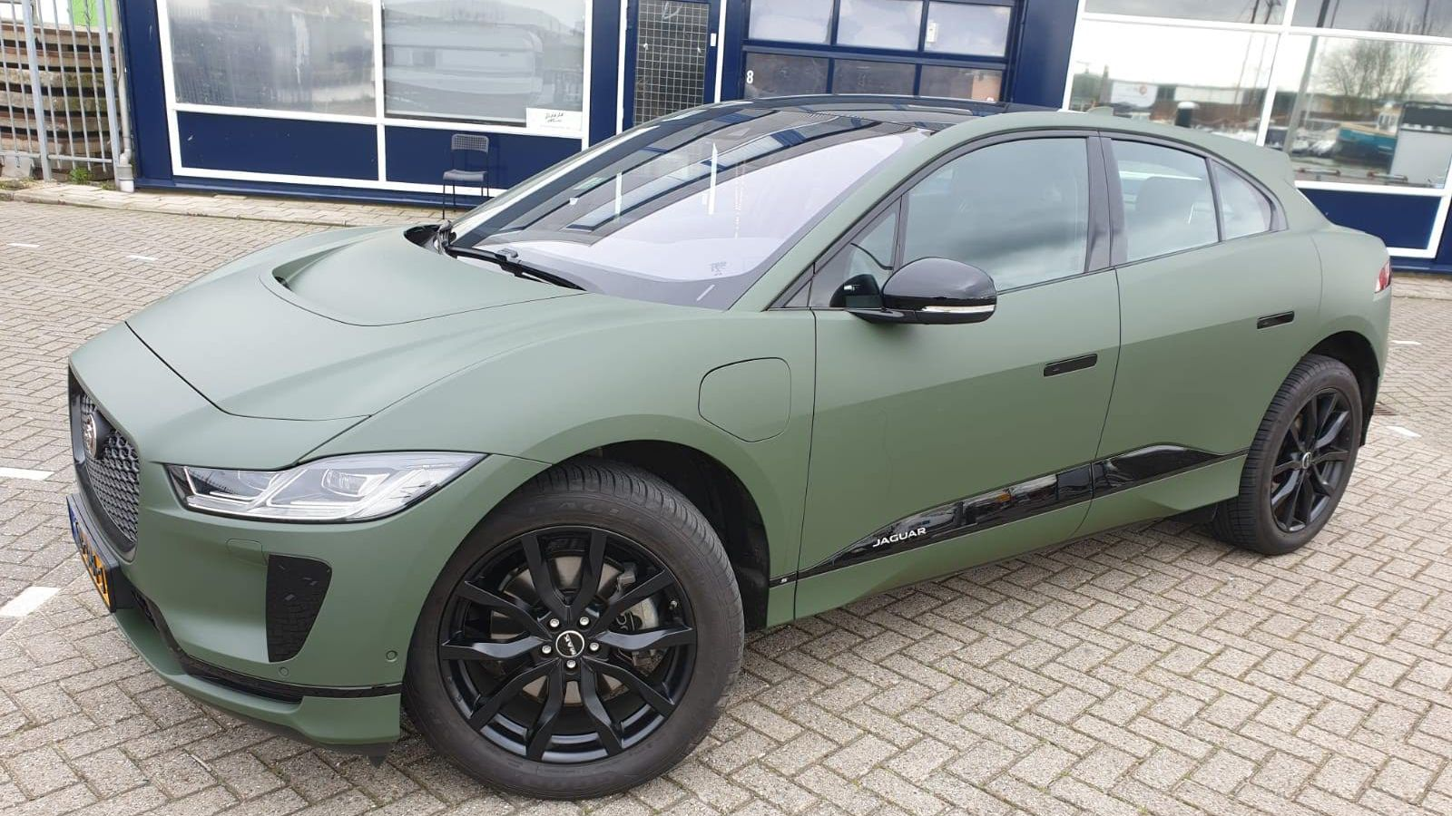 Wrapped In 3m Military Green And Chrome Delete With Avery Black