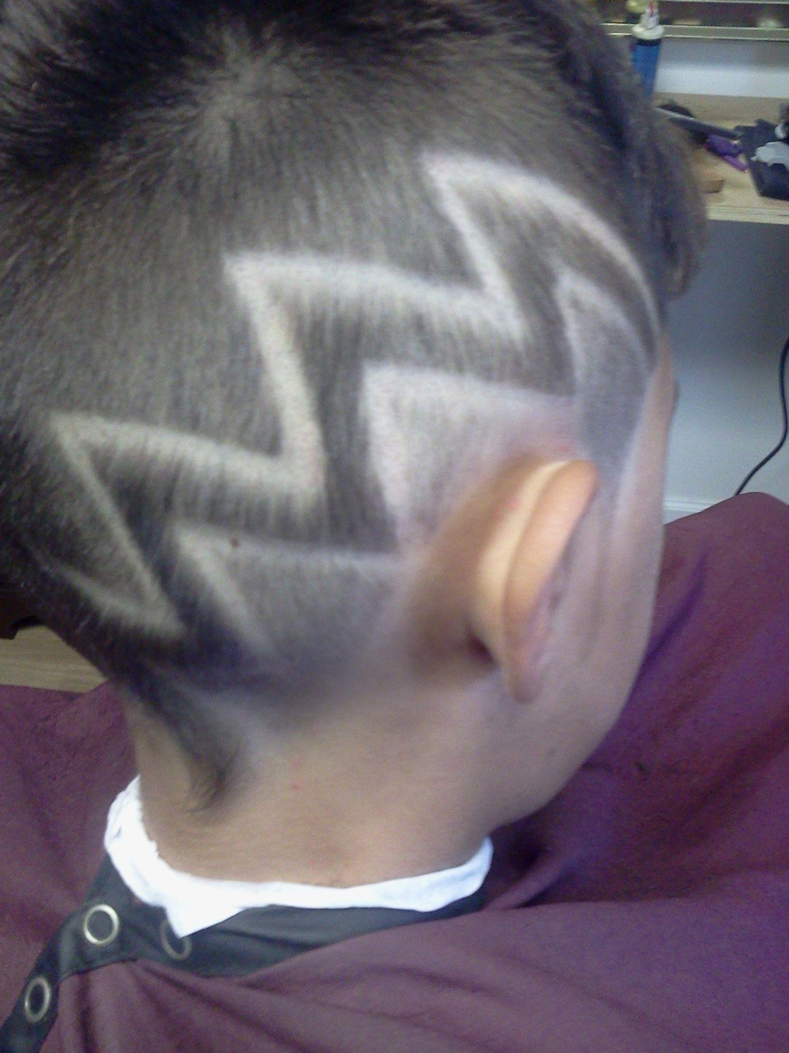 My take on a vintage Vanilla Ice haircut design (zigzag ...