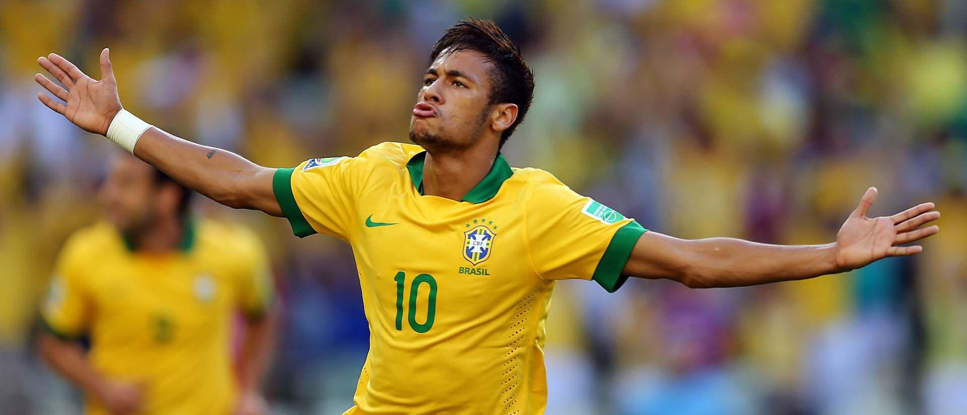 Neymar Brazil 2014 | Neymar double gives jittery Brazil winning start