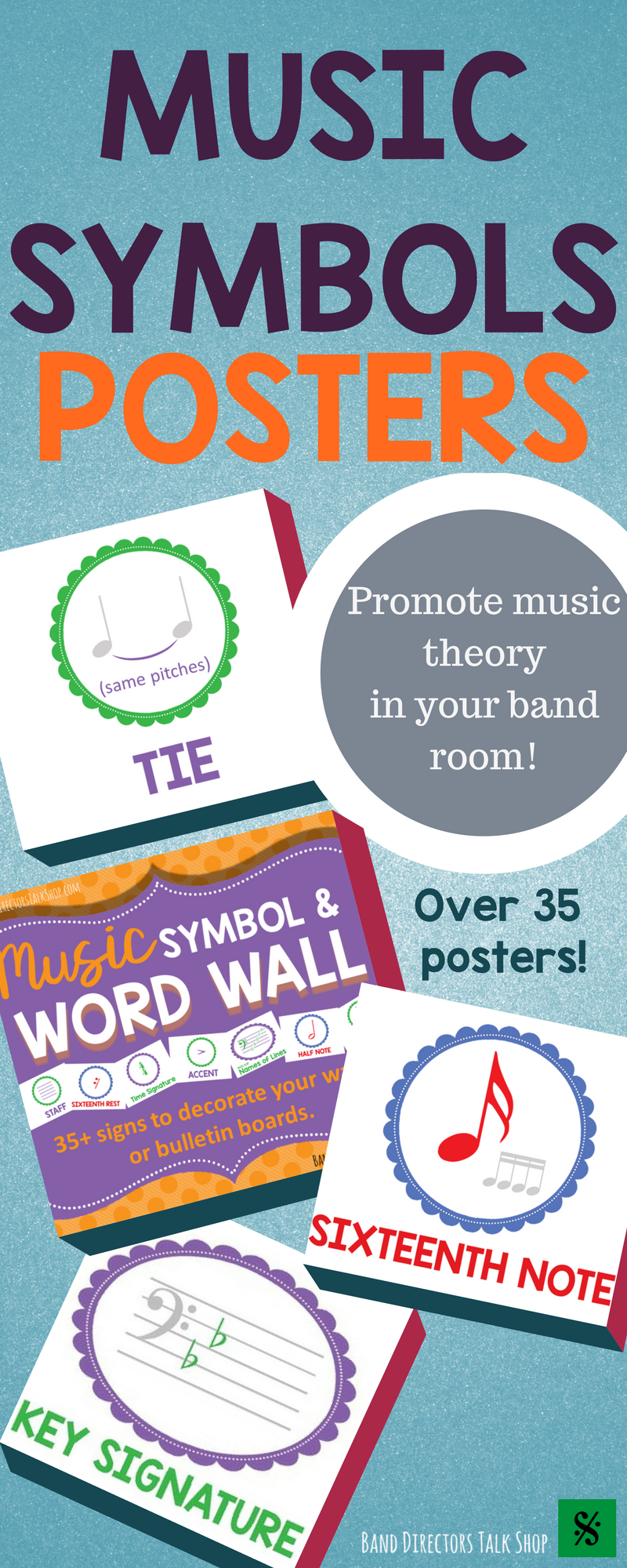 Music Symbol And Word Wall For Your Band Hall Music Word Walls