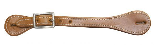 """Adult Size MEDIUM Leather Spur Straps Nickel Plated Buckles Adjusts 8/""""-10/"""""""
