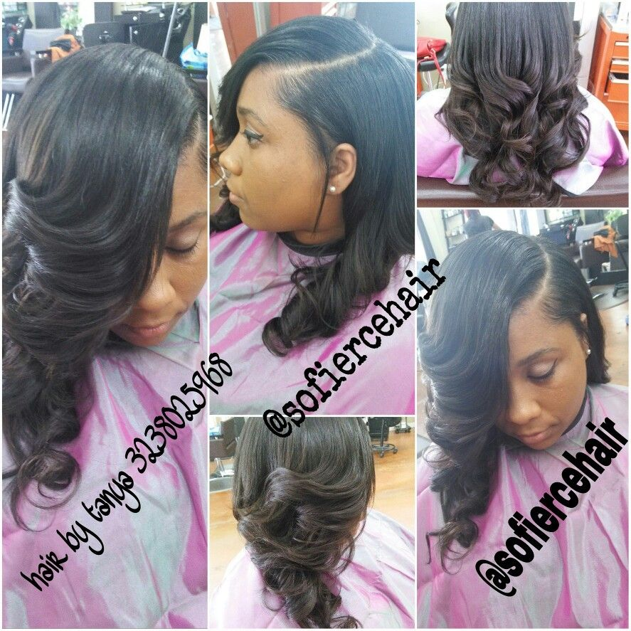Sew In Hairstyles Long Hair Partial Sew In Weave Little Hair Out Love Hair Pinterest