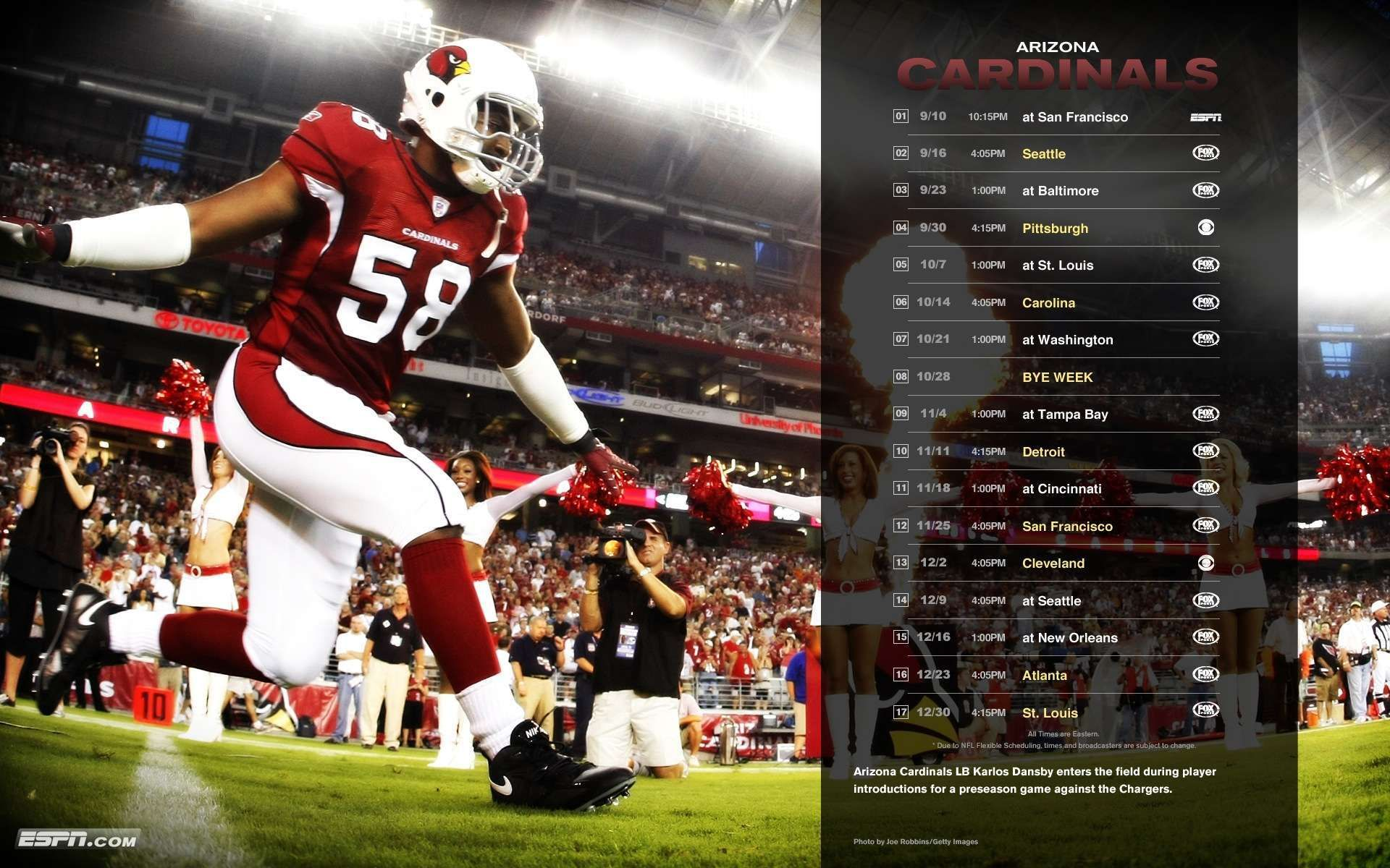 Arizona Cardinals Schedule NFL Wallpaper HD