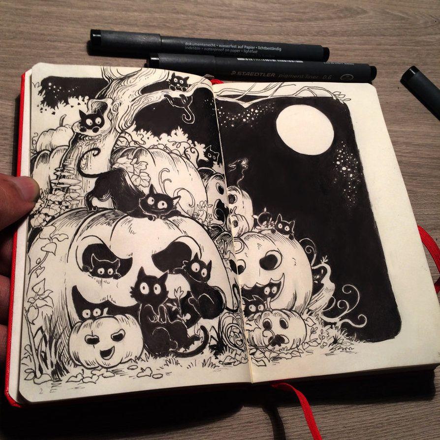1 preparing for halloweenpicolo-kun.deviantart on