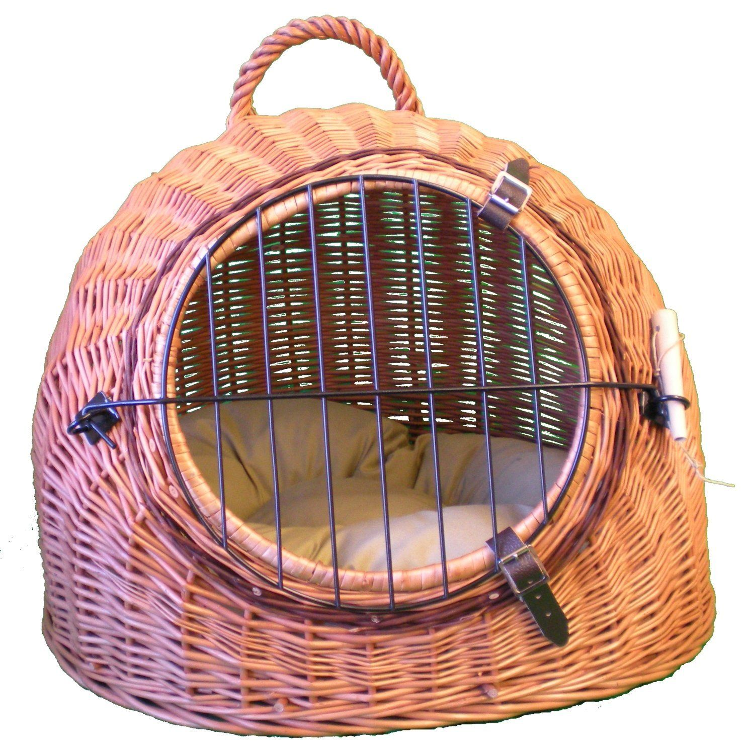 Wicker 'Igloo' Cat Carrier Basket Cat cages, Cat carrier