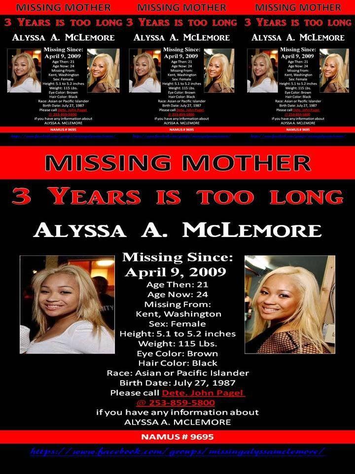 Alyssa McLemore, Missing Washington, http://www.missingpersonsofamerica.com