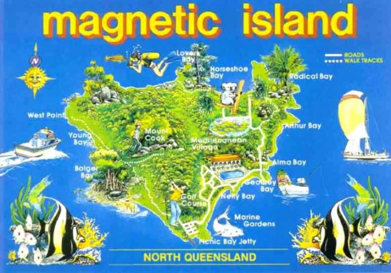 Magnetic Island QLD 8kms offshore from Townsville QLD this 52km