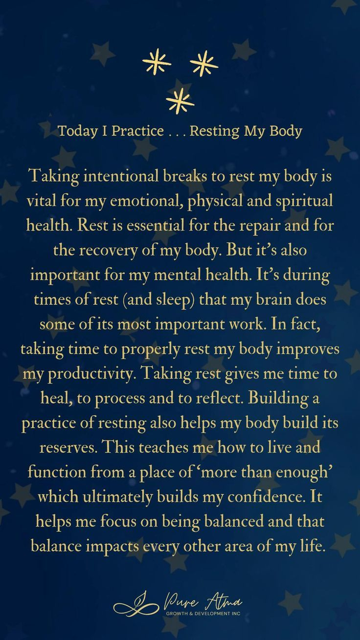 Practice - Resting My Body