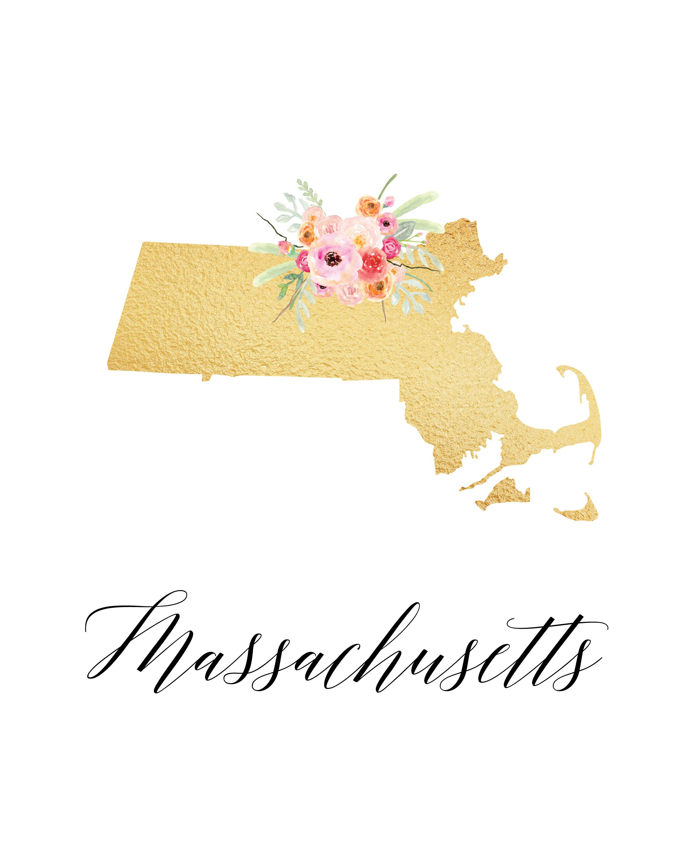 www.thecottagemarket.com StatePrintables TCM-GoldFoil-Massachusetts ...