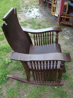 1920s rocking chair big joe chairs at walmart 1920 s larkin spindle veneer wood rocker rare ebay