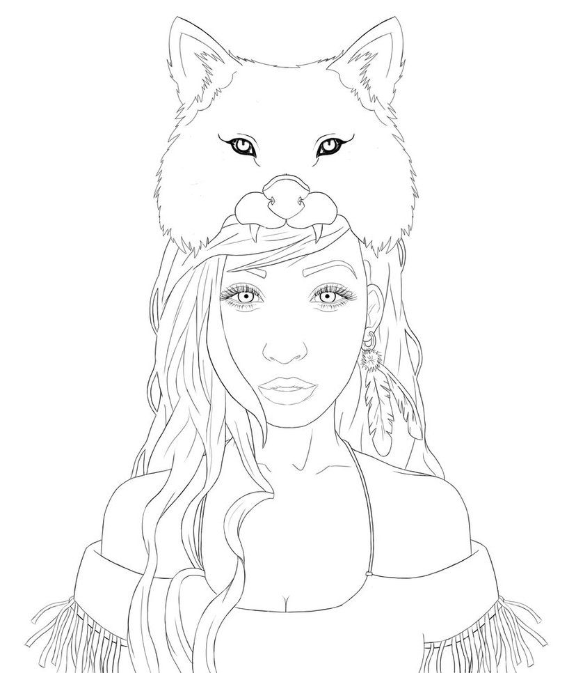 Pretty girl coloring pages - Line Art Drawings Pretty Girls Bing Images