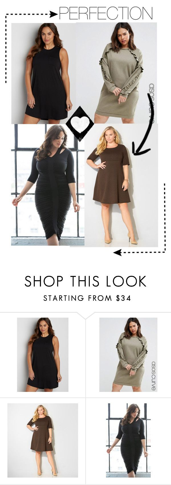 """""""Beautiful Plus Size Dresses"""" by valentina-an on Polyvore featuring moda, maurices, ASOS Curve, Avenue, Kiyonna y plus size dresses"""